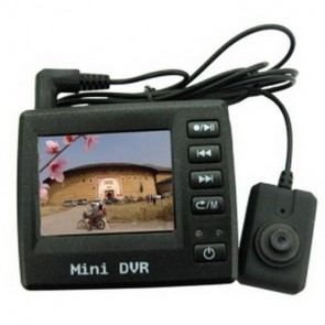 hidden Spy Button Cam DVR - 2 Inch LCD Spy Button Color Pinhole Camera with DVR