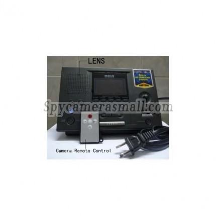 Alarm Clock Radio Hiden HD Spy Camera DVR - RCA Digital tuner / LCD / Clock Radio Hidden Pinhole Camera 720P 32GB Motion Detection
