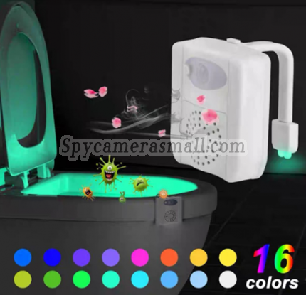 2021 16 Color Spy Toilet Light Camera  1080P HD Spy DVR Pinhole Spy Camera 32GB Internal Memory