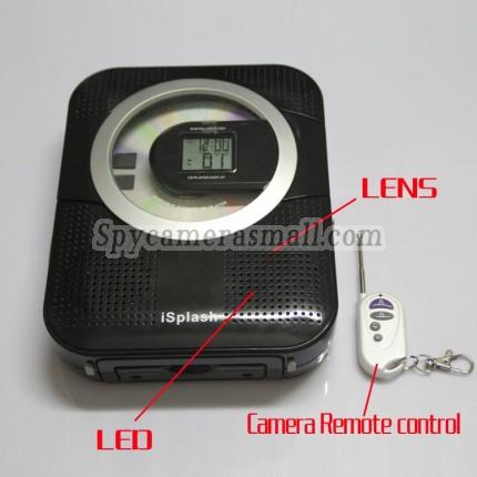 Shower Radio Camera 1280x720 Spy CD/Radio Hidden Waterproof Spy Camera 16GB 720P HD DVR (Motion Detection)