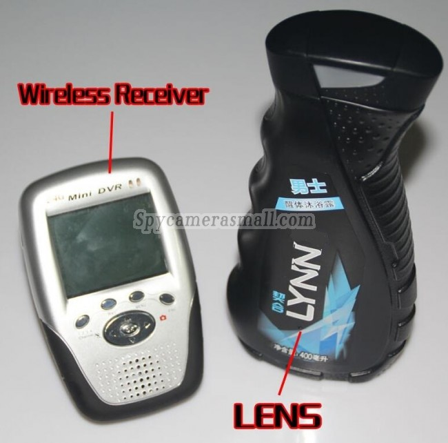 Wireless Spy Camera 24G Mens Shower Gel Spy Camera Hd