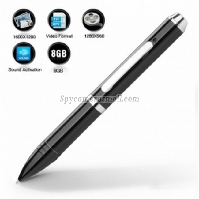 spy camera expert - Spy Pen with Sound Activated Camera + 8GB Memory