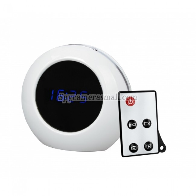 Motion Detection Clock Camera Recorder - Motion Detection Clock Camera Recorder DVR Clock Camera 1280x960(White)