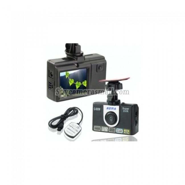 Car Camera DVR Recorder - Vehicle DVR Black BoxSETA FG-600W GPS Car Camcorder