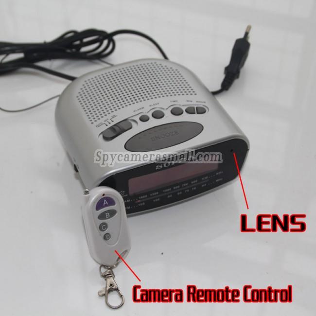 Reloj radio espía con cámara 16G DVR Full HD 1080P con detector de movimiento mejores camara escondida